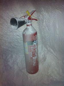salt-encrusted fire extenguisher inside salt cave, wafi mall, dubai