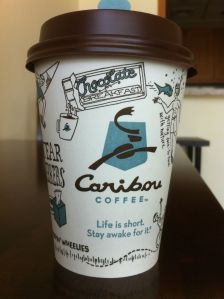 caribou coffee chai tea latte