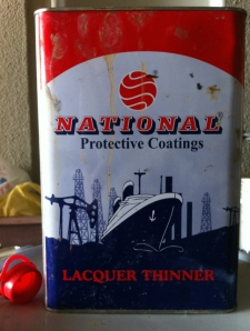 National Protective Coating Lacquer Thinner in red white and blue