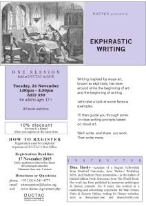 Hardy_ekphrastic_November 2015 DUCTAC creative writing course