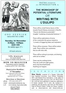 Hardy_oulipo_November 2015 DUCTAC creative writing course