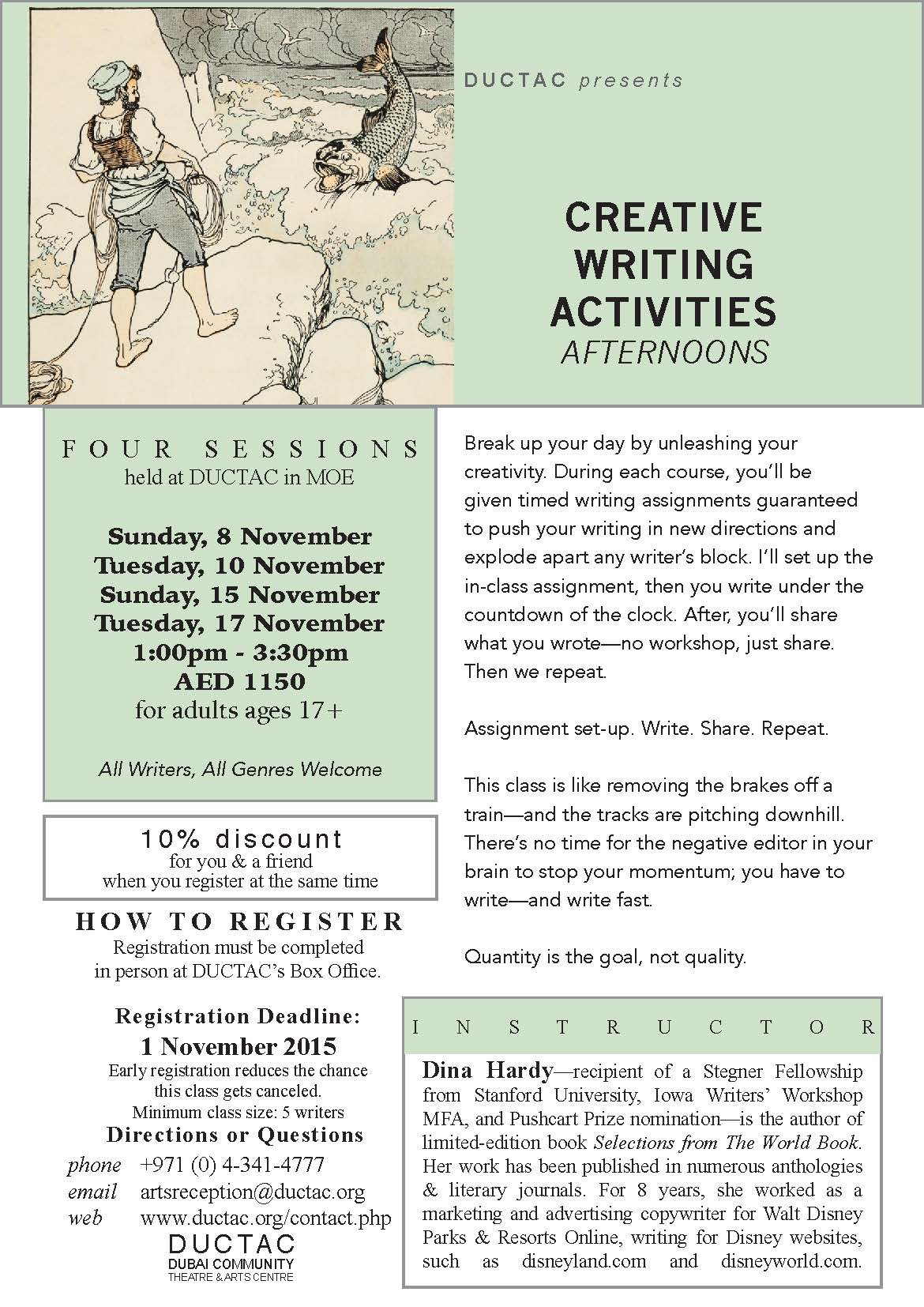 creative writing course uk Writing magazine is the uk's biggest and bestselling magazine for all writers, offering online creative writing courses, writing competitions, advice, reviews and so.